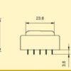 E3005006 Πακτωμένος Μετασχηματιστής 0,6VA 12V -138