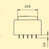 E3011462 Πακτωμένος Μετασχηματιστής 1.5VA 24V -148