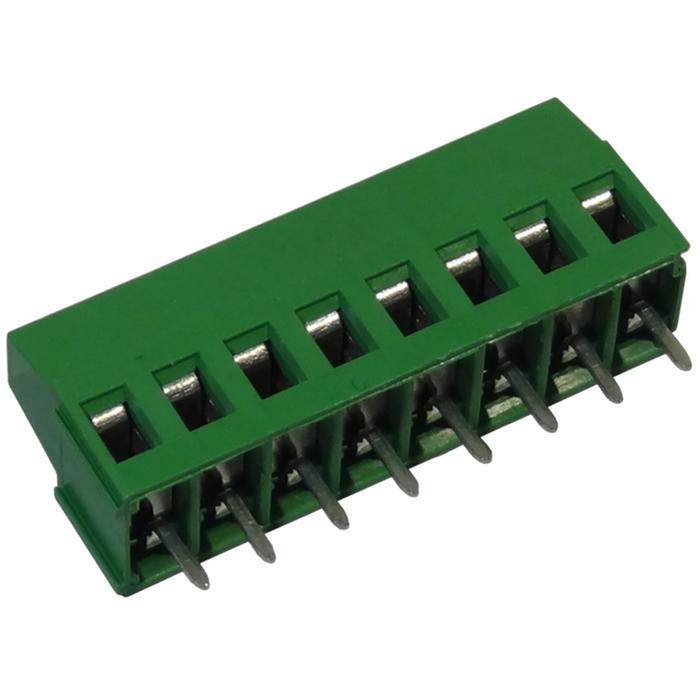 MV258-5.08-V Κάθετη κλέμα πλακέτας 8 πόλων ύψους 16 mm