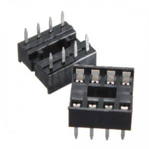 Βάση ολοκληρωμένων απλή 8 PIN 2.54mm, 7.62mm-0