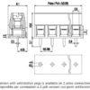 MV152-5-V Κάθετη κλέμα πλακέτας 2 πόλων ύψους 10,6 mm -239