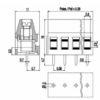 MV252-5.08-V Κάθετη κλέμμα πλακέτας 2 πόλων ύψους 16 mm -230