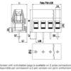 MV253-5.08-V Κάθετη κλέμα πλακέτας 3 πόλων ύψους 16 mm -233