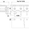PV03-7,62-H-P-GY Οριζόντια κλέμα πλακέτας 3 πόλων ύψους 8,50mm-297