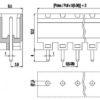 PV03-5.08-V-P Κάθετη κλέμα πλακέτας 3 πόλων ύψους 12,20mm-351