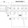 PV03-5.08-H-P Οριζόντια κλέμα πλακέτας 3 πόλων ύψους 8,50mm-357