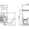 SHCH03-5-GY Οριζόντια κλέμα καλωδίου 3 πόλων ύψους 11,50mm-289