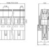SV03-5,08-F Κάθετη κλέμα καλωδίου 3 πόλων ύψους 27,60mm-277