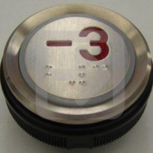 Μπουτόν στρογγυλό Ανελκυστήρα Νο:-3-0