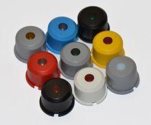 Στρογγυλό γκρι καπάκι με ένα στρογγυλό διάφανο φακό στη μέση για τη σειρά 5G ύψους 7,5 mm-0