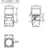 Στρογγυλό άσπρο καπάκι με ένα μεγάλο στρογγυλό διάφανο φακό για τη σειρά 5G ύψους 7,5 mm-674