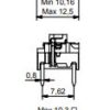 Switches through hole σειρά 5G με κόκκινο Led 3.5N-613